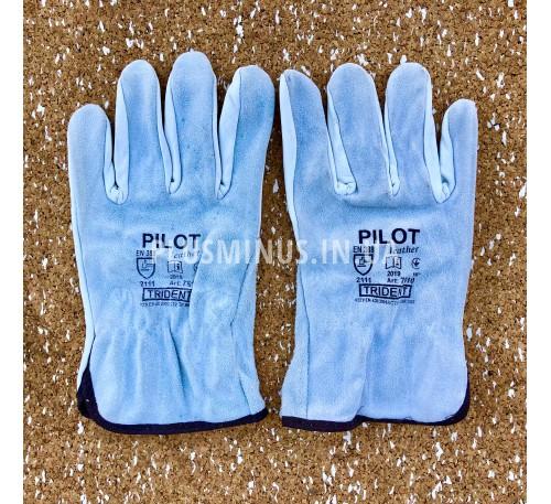 Рукавиці шкіряні зі спилком Pilot (розмір 10)